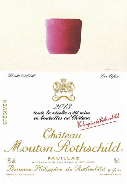 Etiquette Mouton Rothschild 2013 specimen