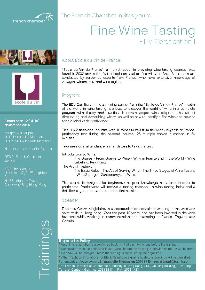 Flyer - EDV1 - November 2014