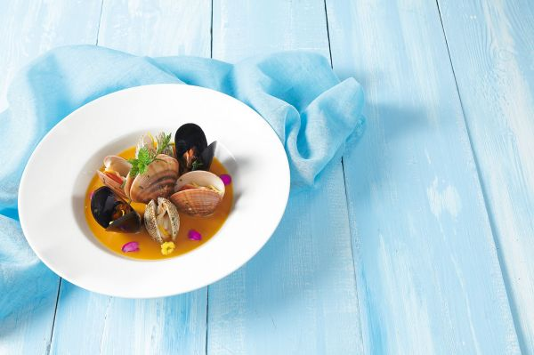 Shell fish in shrimp sauce from Mykonos Island
